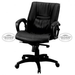 Boss B-518 Senator Low Back Double Ply Revolving Chair