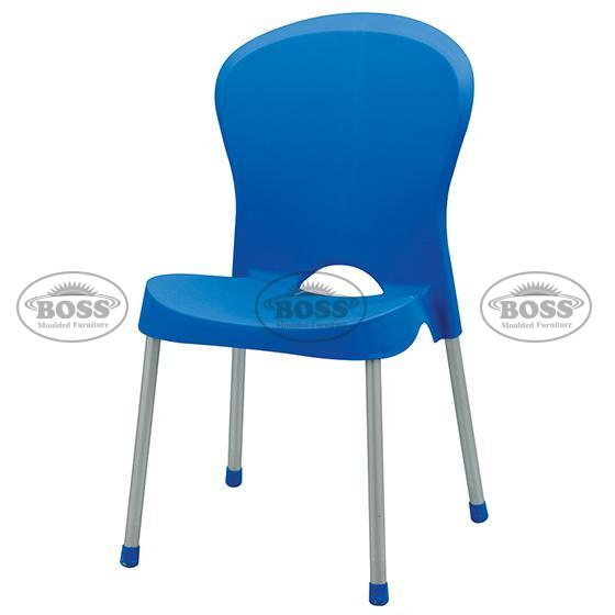 Boss BP-310 Dani Max Armless Chair with Silver Legs
