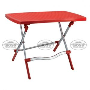 Steel Plastic Bless Table Silver Frame