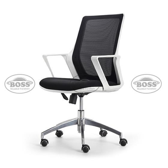 Boss Imported Square Plastic Arm Mesh Chair Revolving Chair