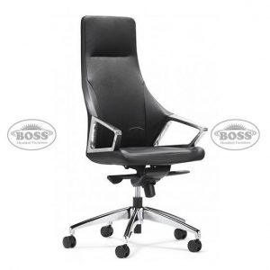 revolving leather chair