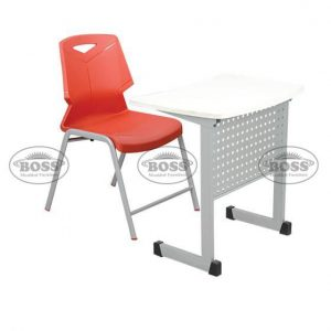 Boss Steel Plastic Holo Shell Chair with Iron Frame And Fiber Top Big Table