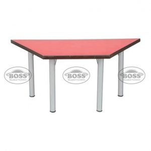 """Wooden Table Triangle With Steel 2"""" Pipe"""